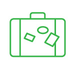 dovolenka bez cestovky - ikona kufrík | erestrade.sk